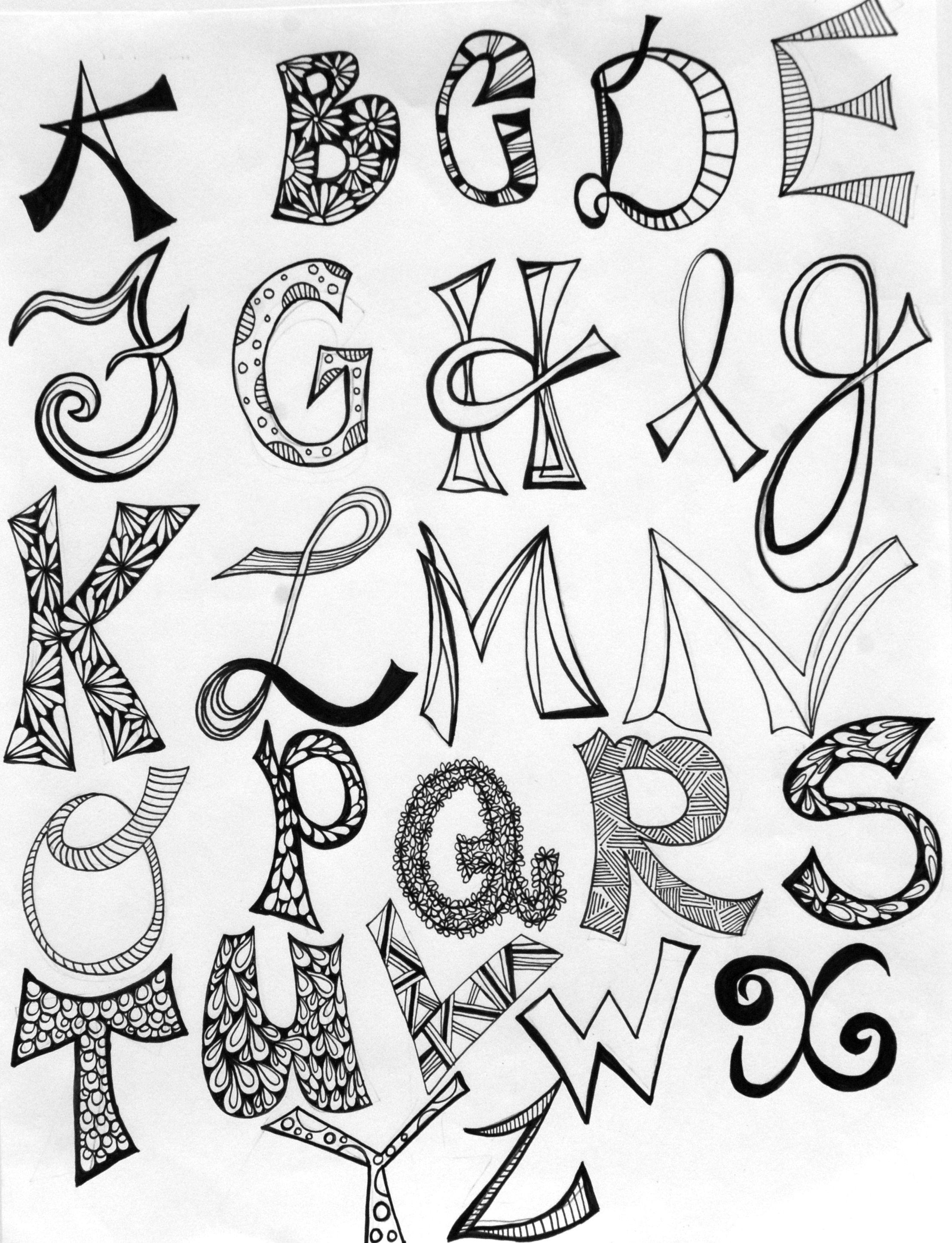 Different Stylish Ways Of Writing Alphabets Preschool