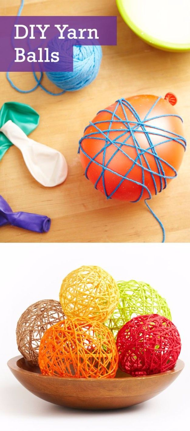50 Easy Crafts to Make and Sell Yarn ball, Homemade