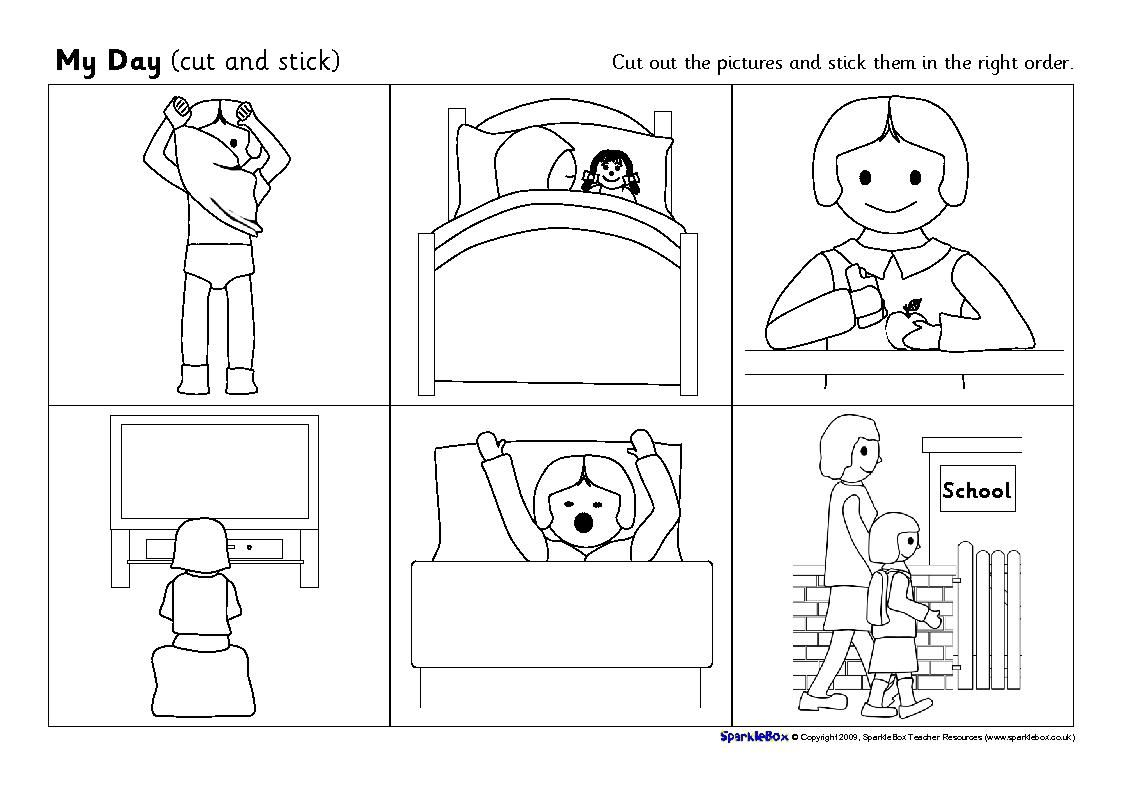 Colouring Book Pages Of Picture Sequencing