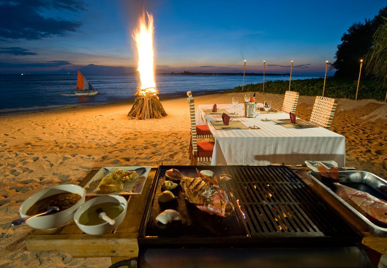 BBQ On Beach Villa Sepoi Sepoi Private Villas And