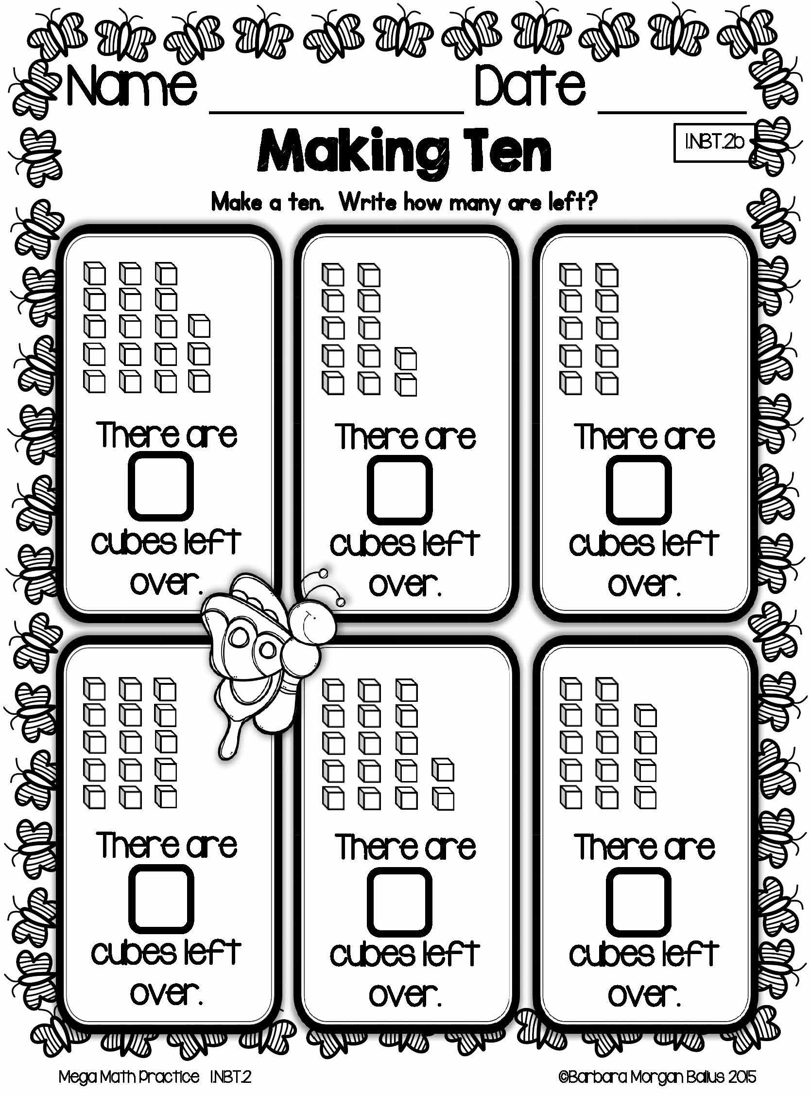 First Grade Math Place Value Mega Math Practice Spring 1 Nbt 2