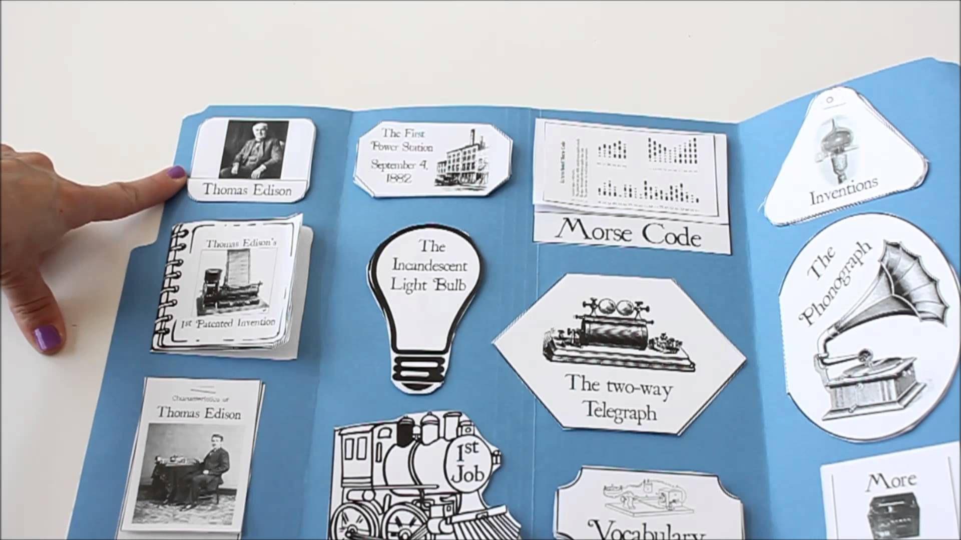 Thomas Edison Unit Study Lapbook