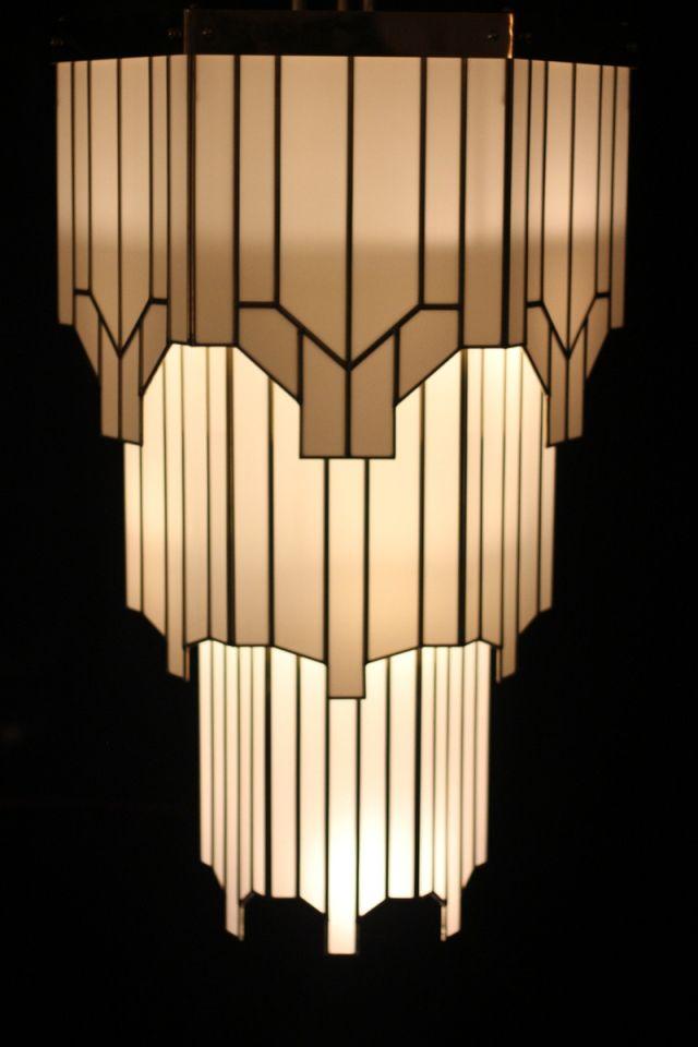 Art Deco Lighting At The Hawksmoor Air St London W1