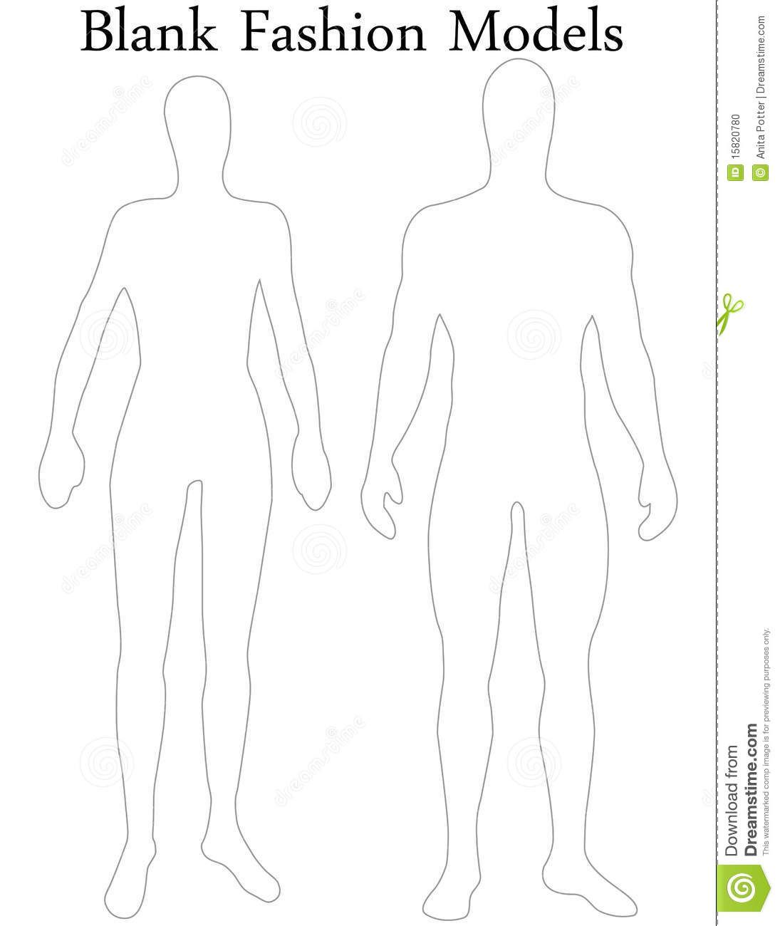 Fashion Design Figure Template Male