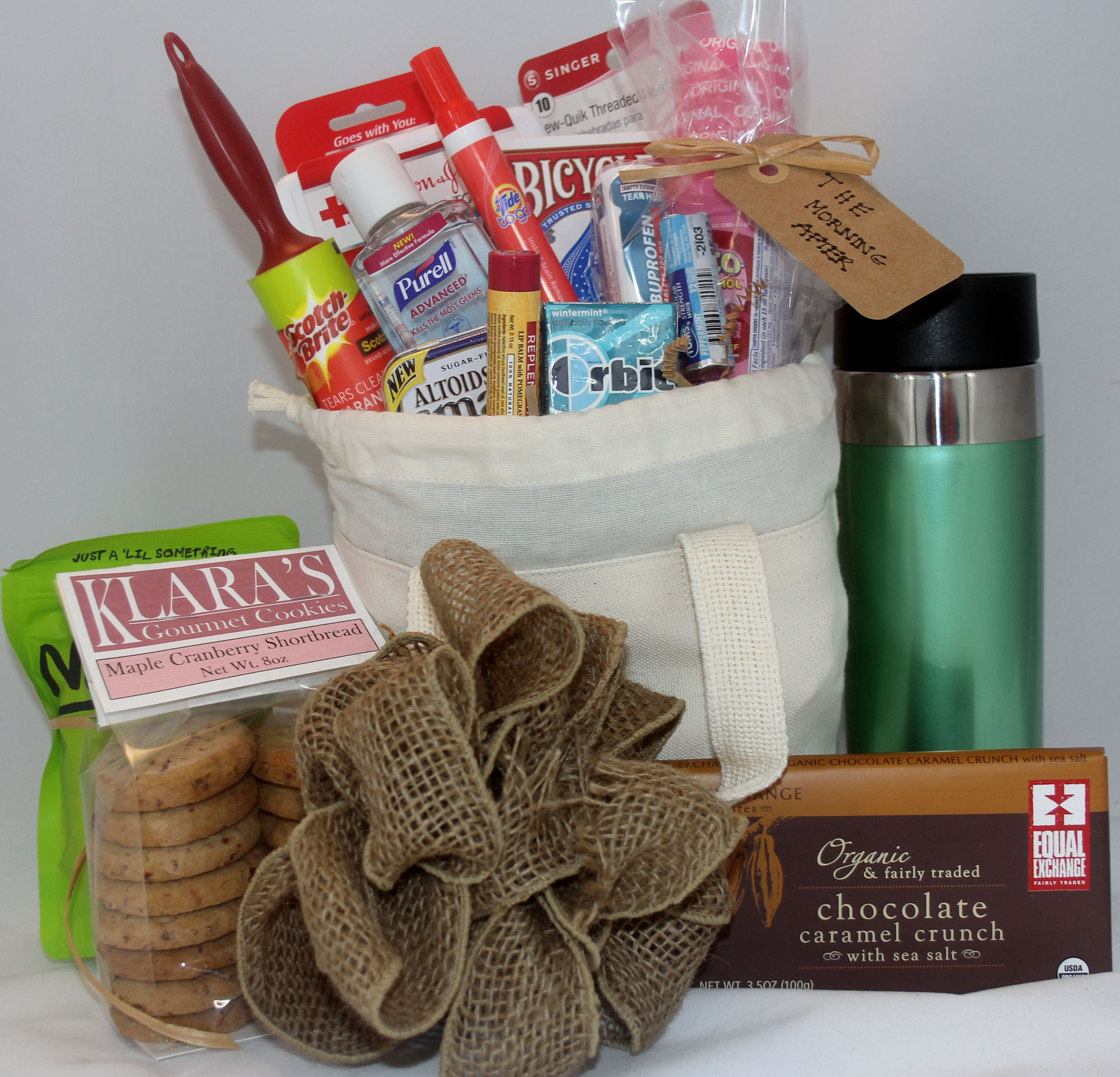 gift basket for the outoftown hotel guests