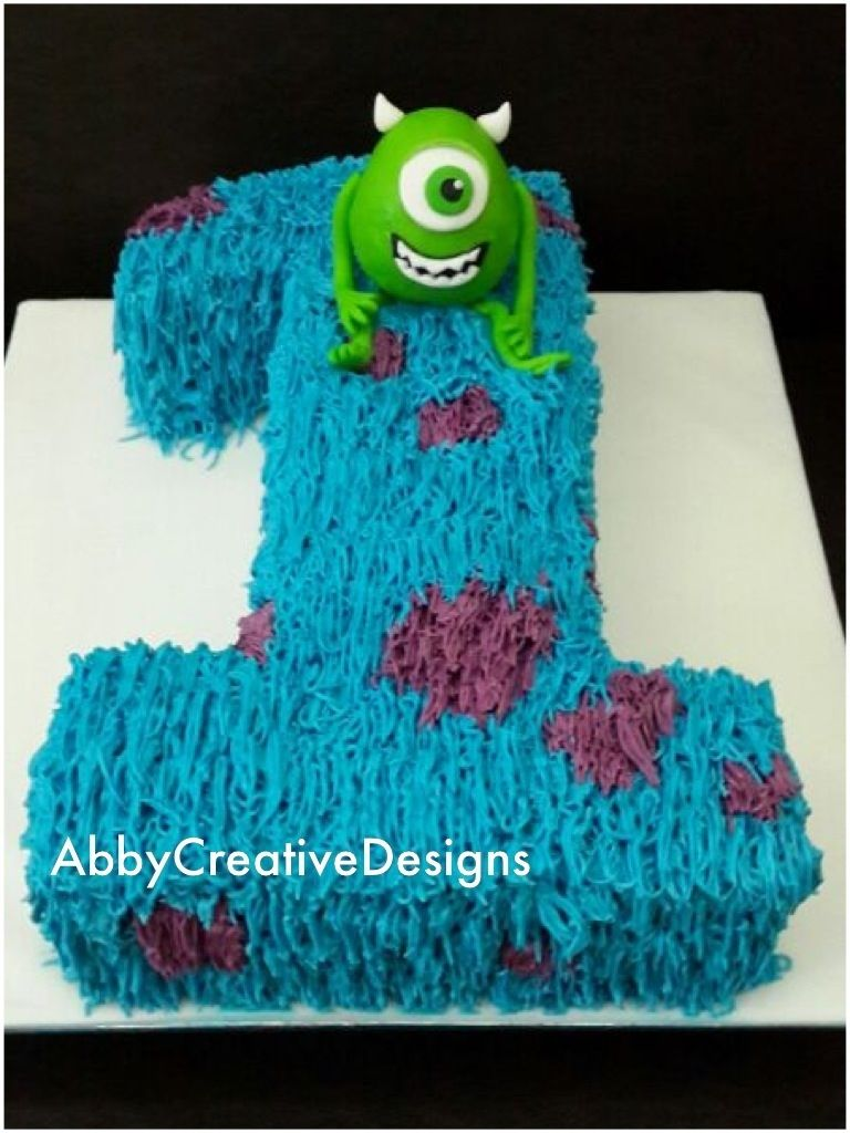 Monsters Inc Birthday Cakes Google Search Simple But
