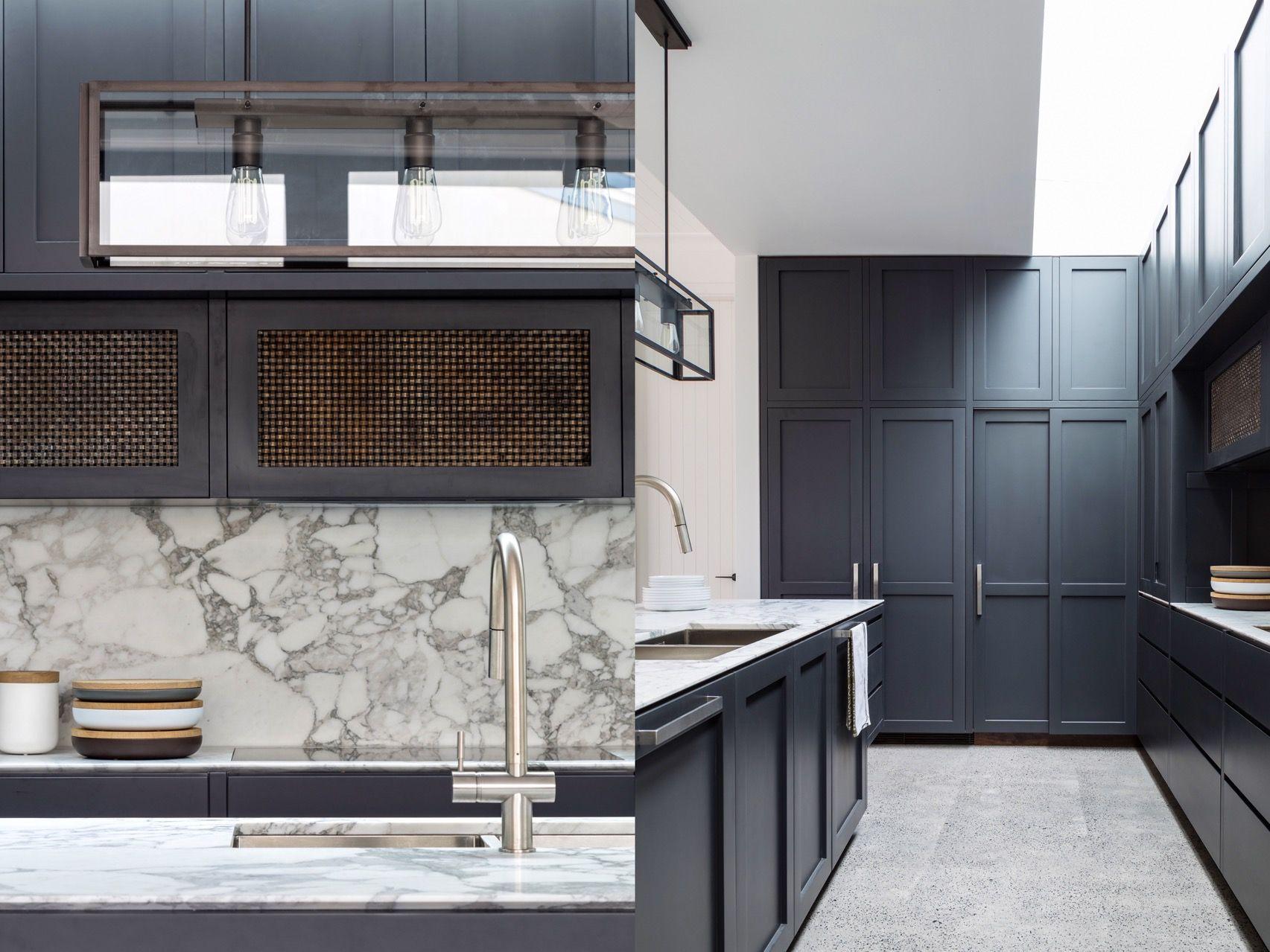 Modern Traditional Kitchen Dark Wood Kitchen Cabinets