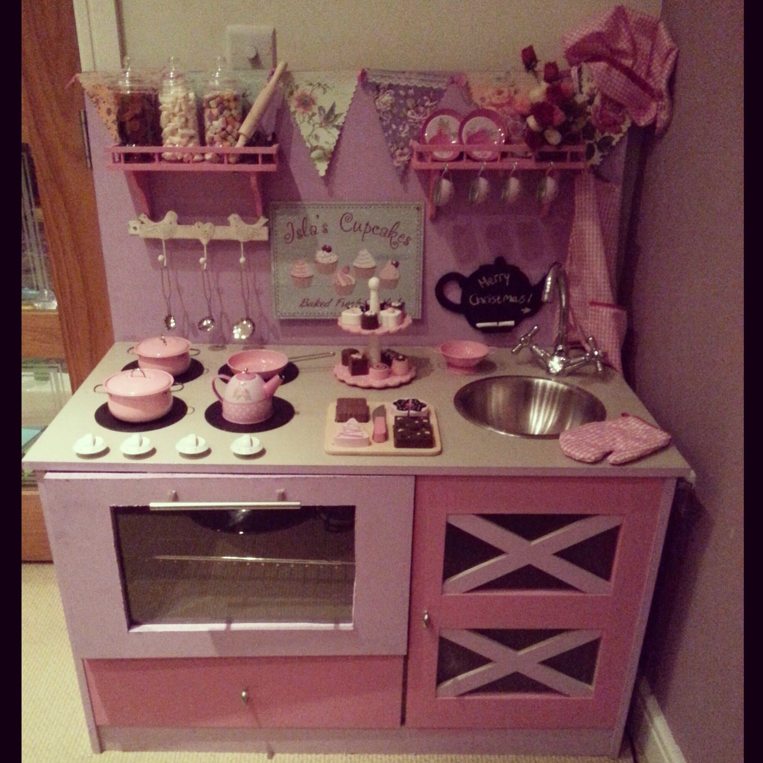 Play kitchen diy kitchen toy kitchen girlie pink lilac fun