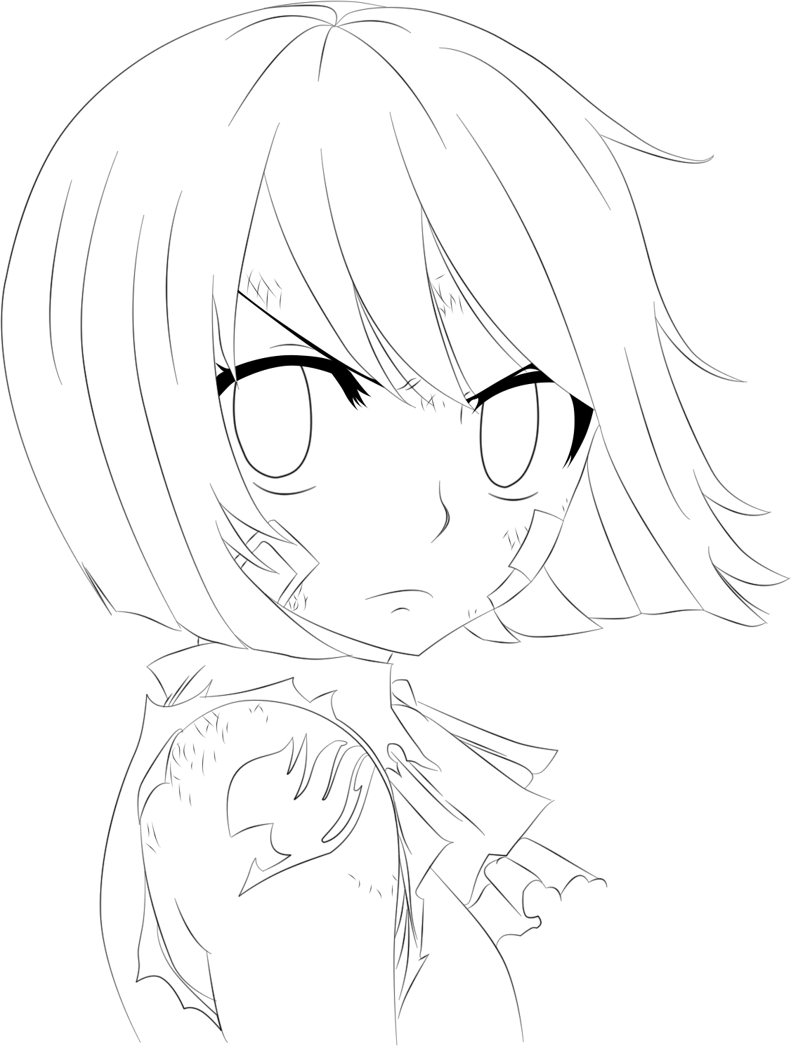 Fairy Tail 388 Wendy Lineart by Ftg07 on DeviantArt