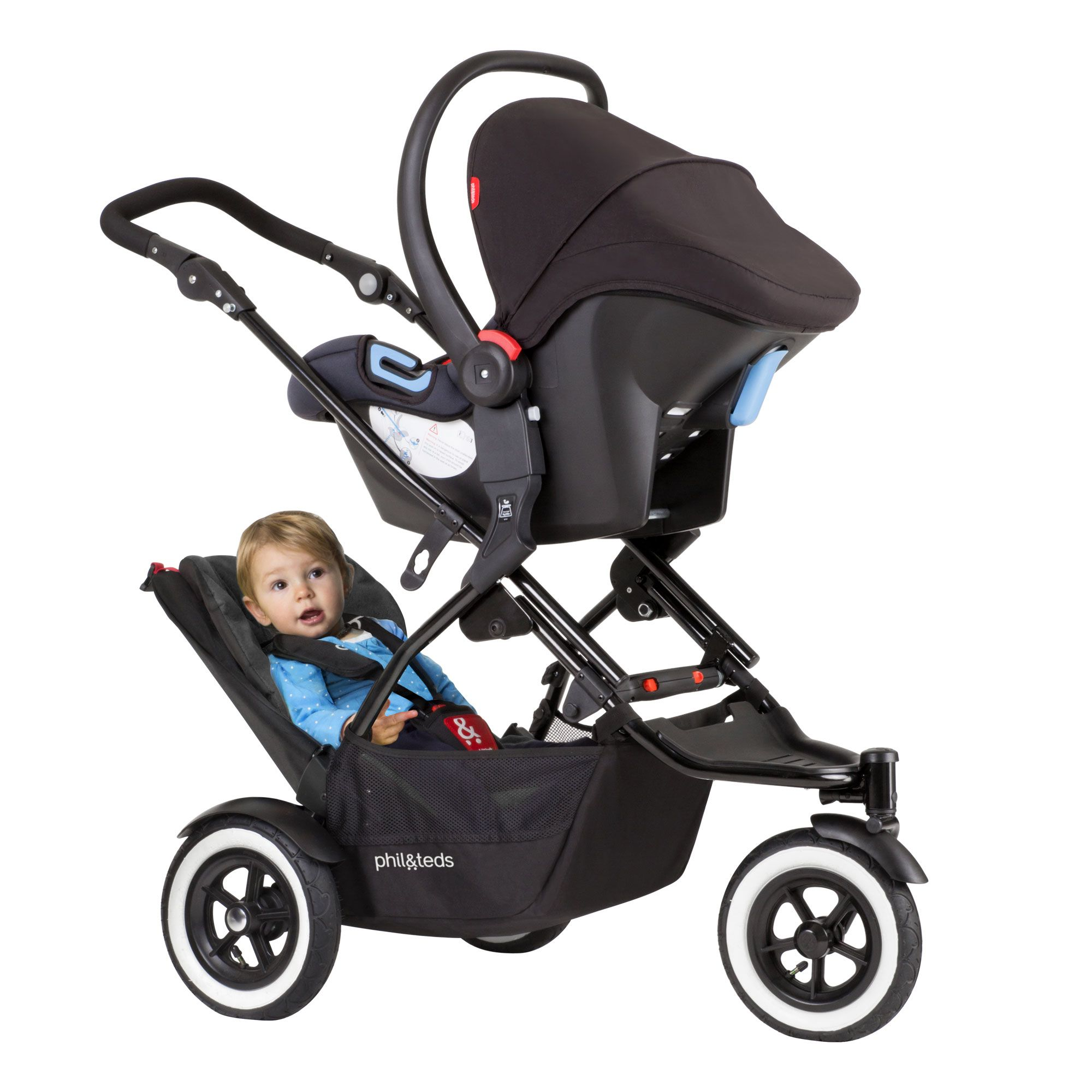 phil&teds DOT stroller for infant and toddler. dot is the