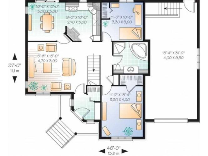 Simple 1 Bedroom House Plans One Story 2 Level