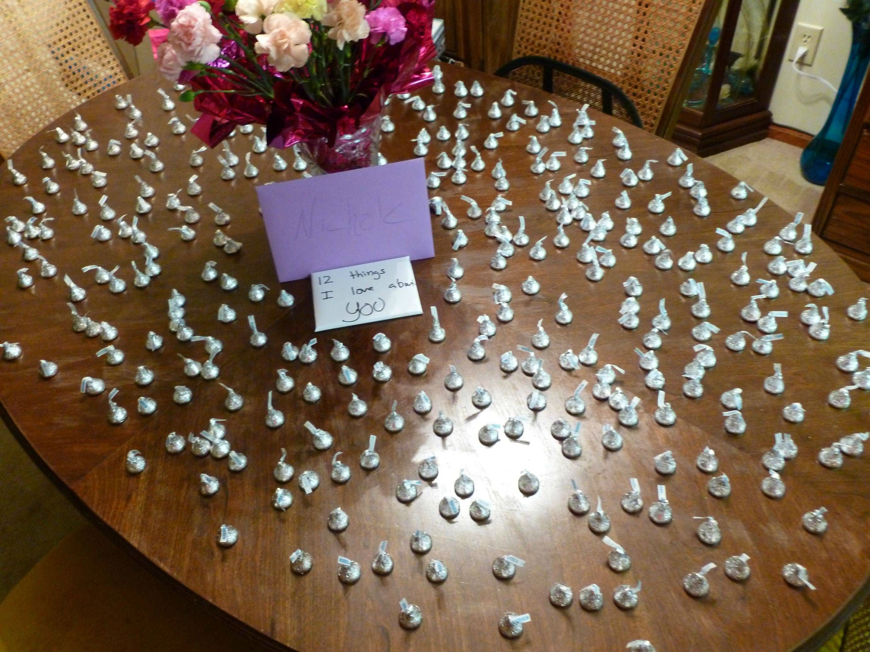 For my girlfriend and my 1 year, I bought her 365 kisses