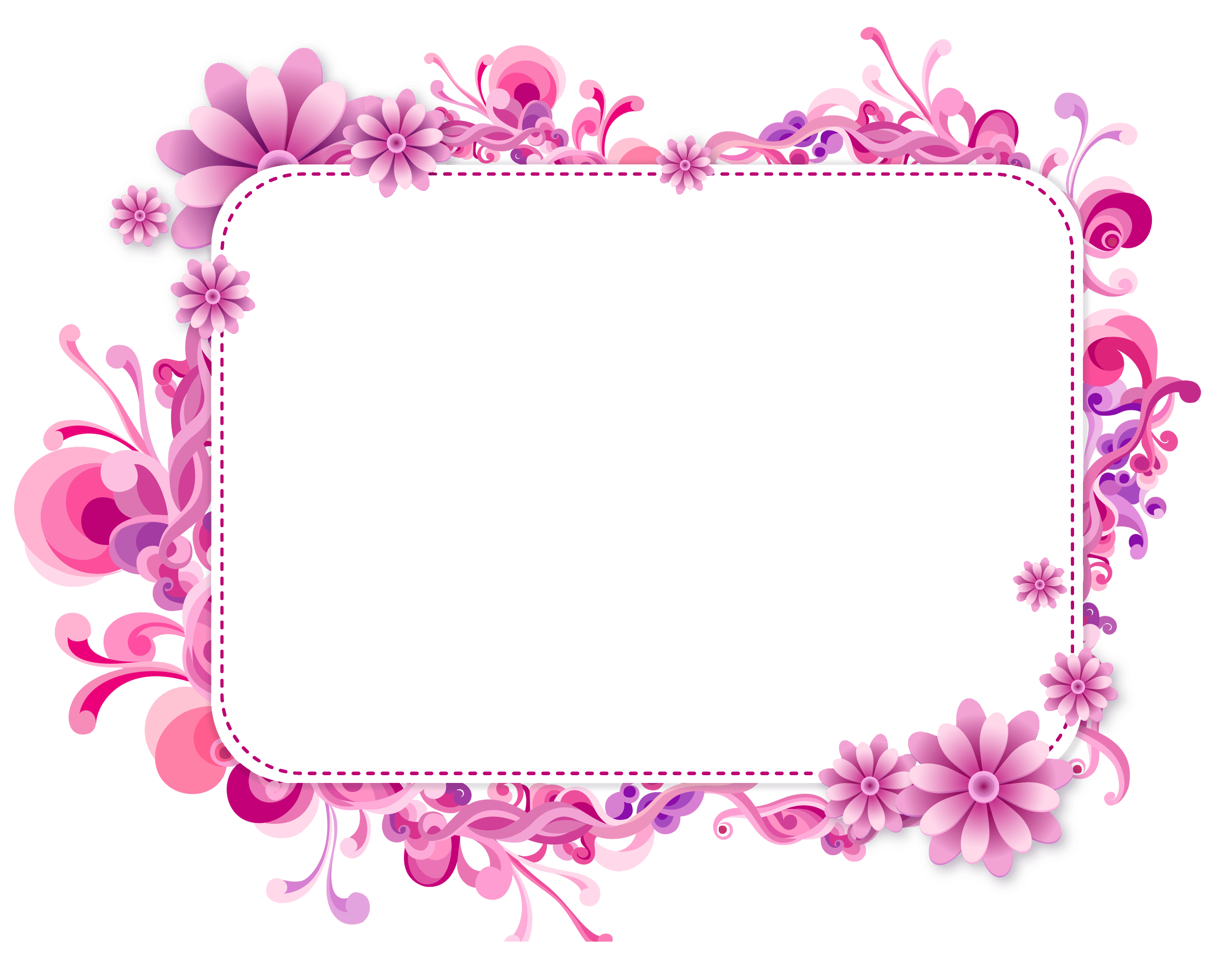 Pink and Purple Vector Frame Hej Pinterest Tags