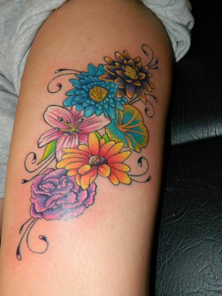 birth flower tattoo Bing Images tattoos Pinterest
