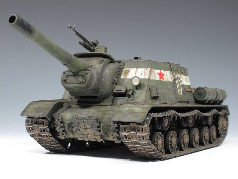 Isu152 tank destroyer soviet union miniature models