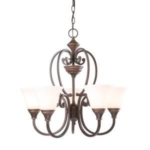 Hampton Bay Somerset Collection 5 Light Bronze Chandelier Gex8115a 2 At The