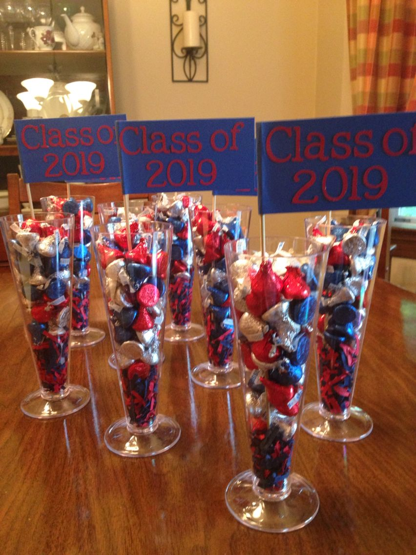 Centerpieces for my daughters 8th grade graduation party