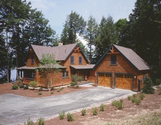 Lakeside Timber Frame Home With Cedar Shingle Siding