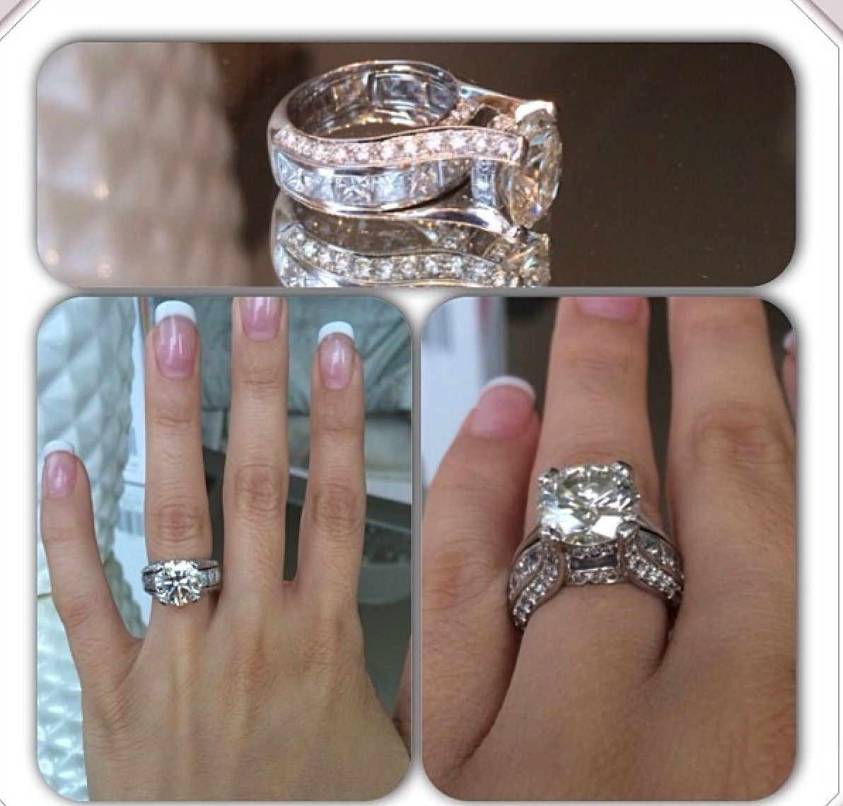 setting for huge round diamond engagement ring
