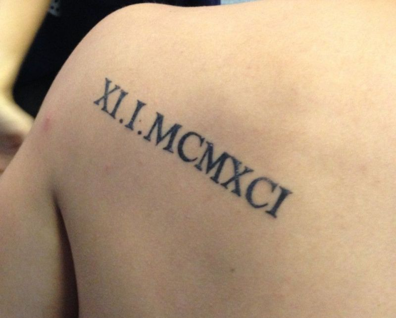 Roman Numeral Fonts Tattoo Google Search