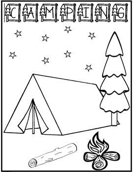 1000 images about camping on pinterest camping theme coloring
