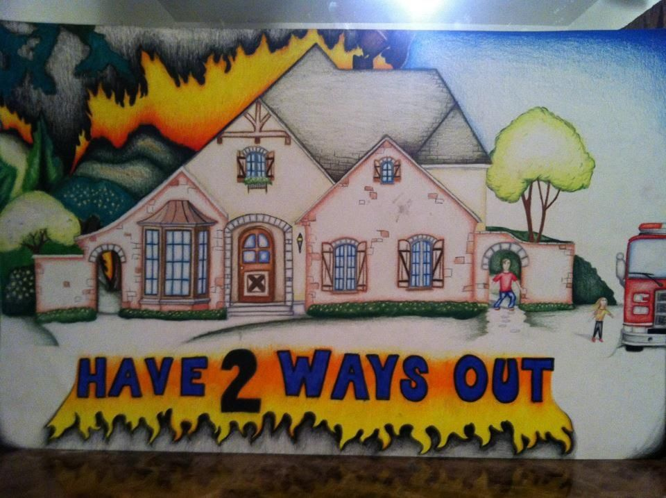 Old but my Fire Prevention Poster) (Got 3rd Place in Fire