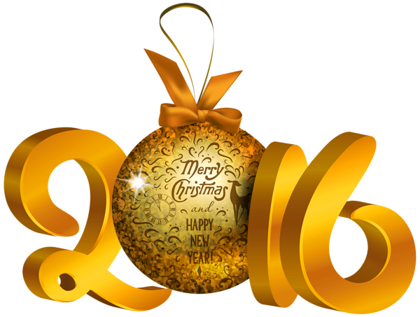 Yellow 2016 Decoration PNG Clipart Image Ano Novo