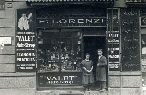 vecchi negozi della vecchia milano