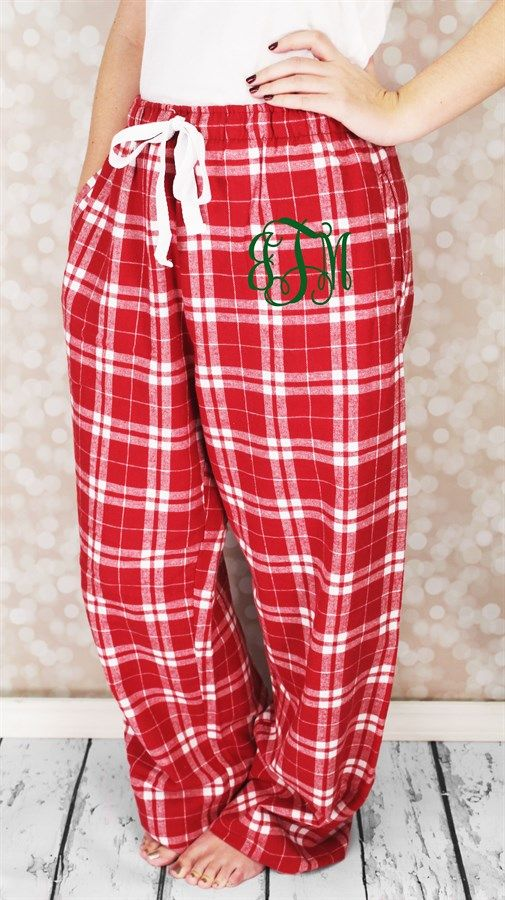 Monogrammed Christmas Pajama PantsYouth and Adult