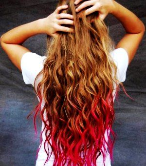 punk glam red temporary dip dye hair chalk i ve wanted to do red dip dyed tips for the longest