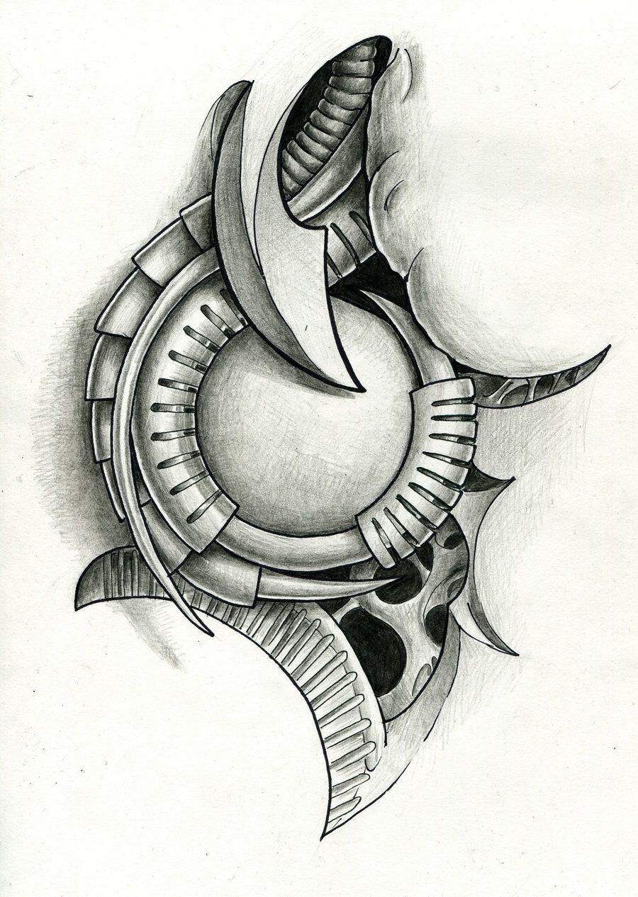 biomech tattoo flash by Ignitron Biomechanics