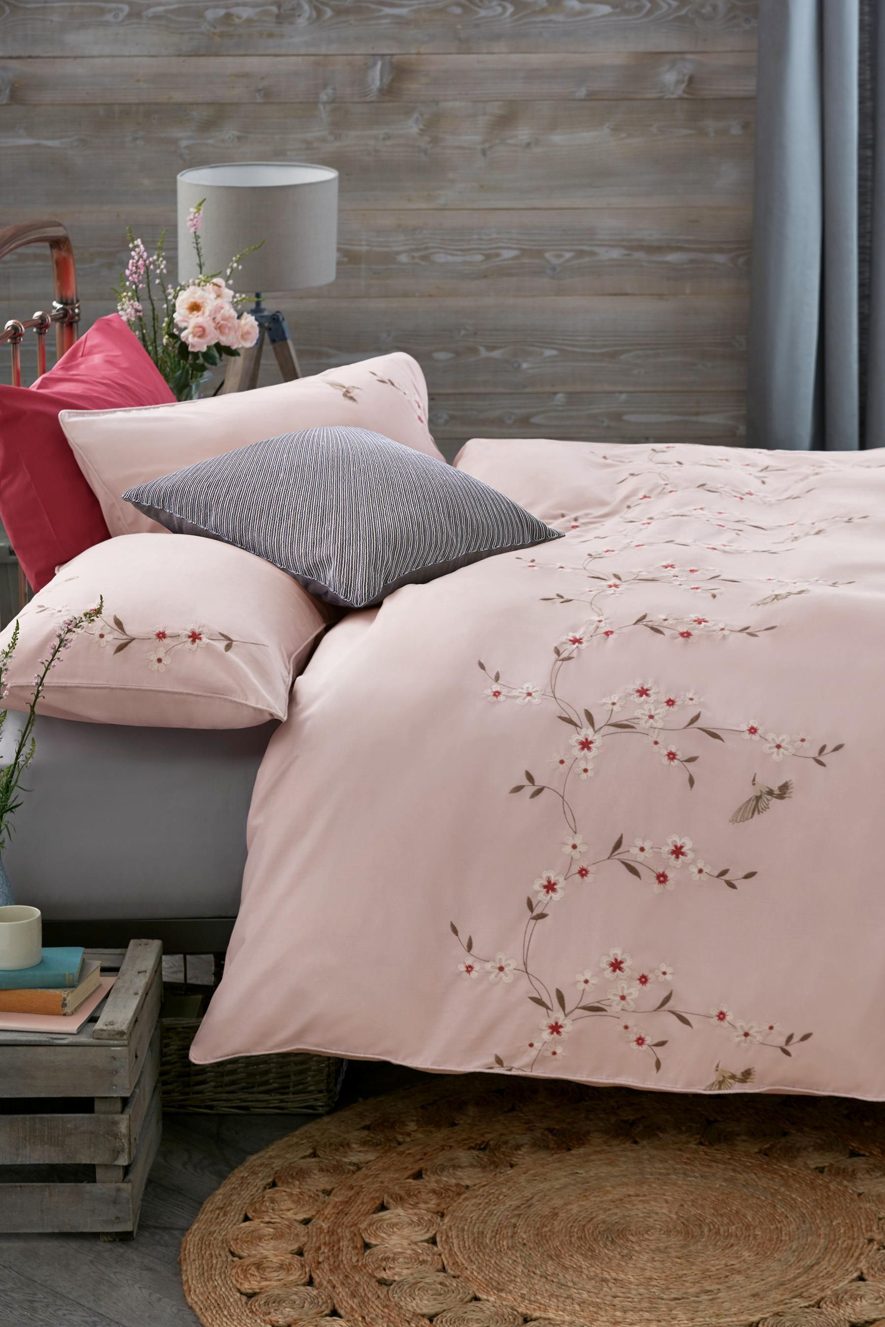 Buy Embroidered Birds Bed Set from the Next UK online shop   Bedroom     Buy Embroidered Birds Bed Set from the Next UK online shop  Stylish