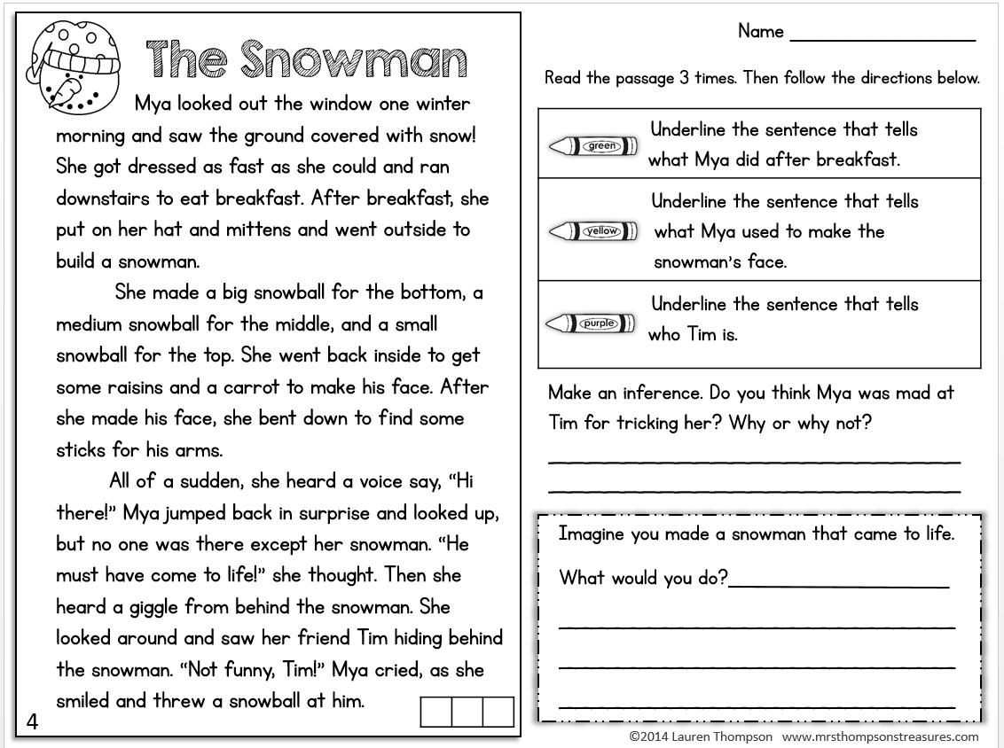 Worksheet Middle School Reading Comprehension Worksheets