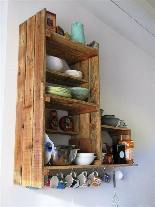 Pallet Kitchen Cabinet Cabinets Wall Shelves