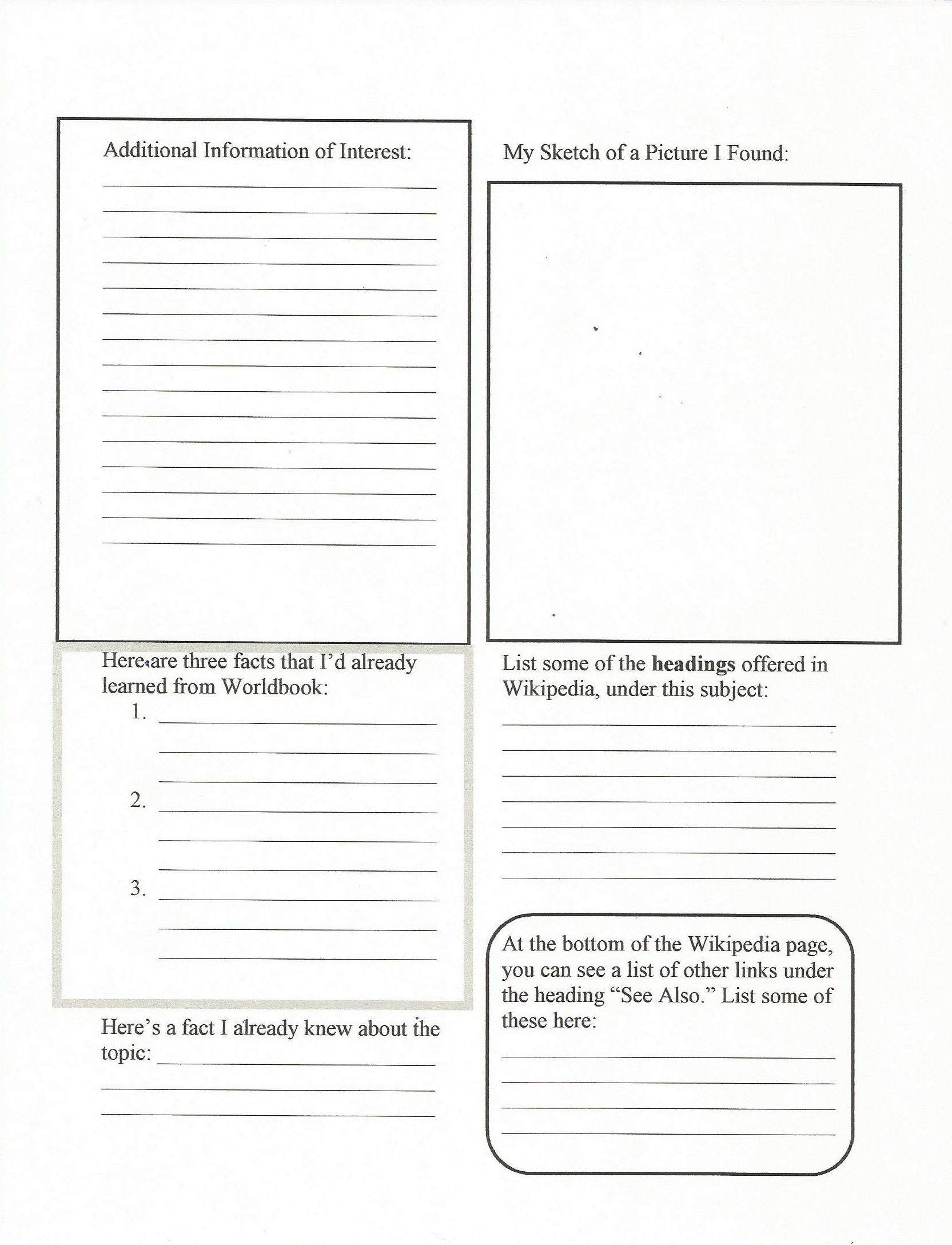 Citing Wikipedia Middle School Handout Worksheet Pg 2
