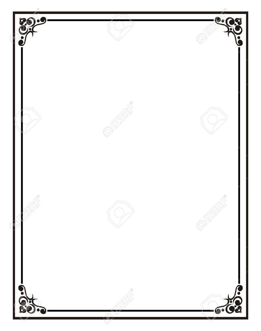 Home Office Certificate Border Stock Photos Pictures Royalty Free With Regard To Word Document