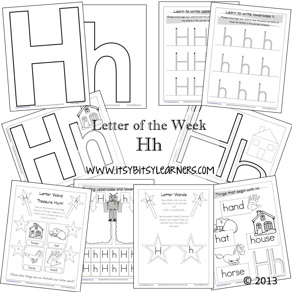 Letter Of The Week Printables Available Free At Itsybitsylearners Abcs 123s