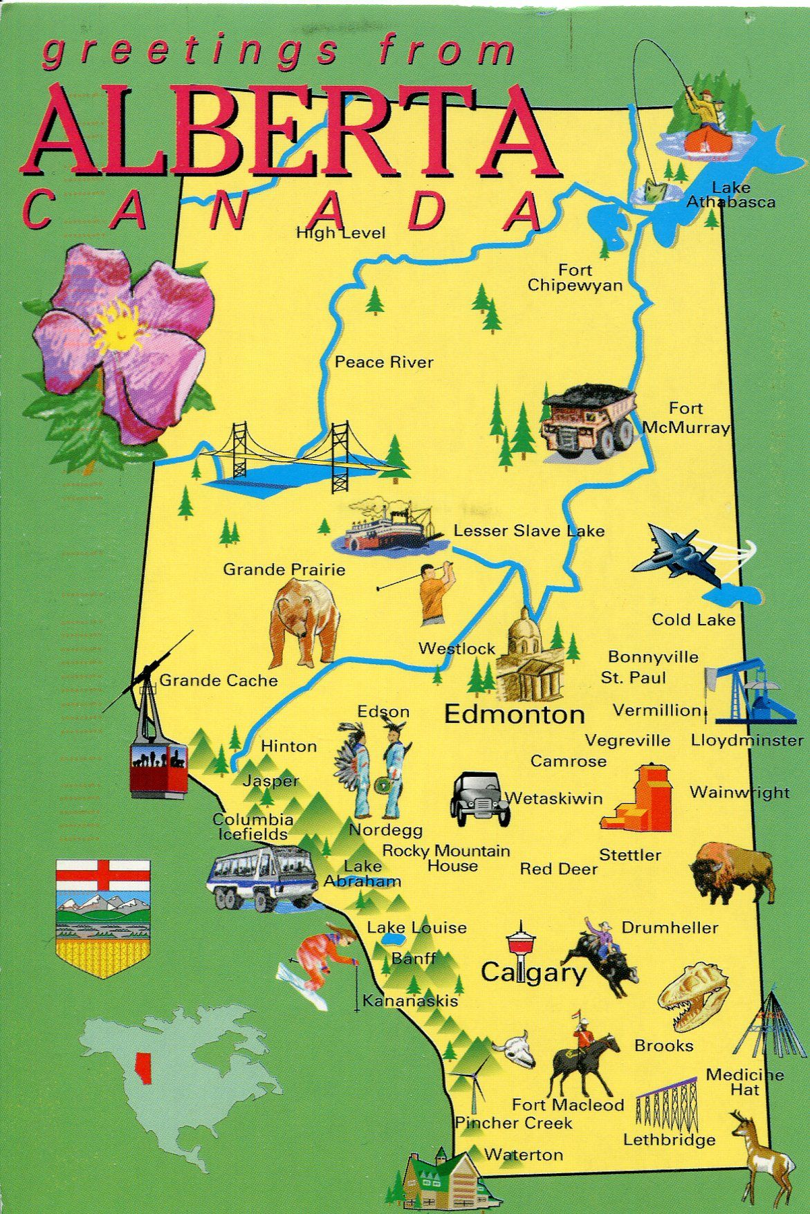 Alberta, Canada map. Family owns land in this sector of