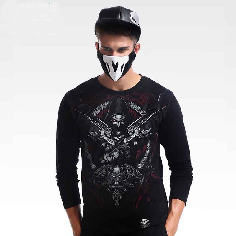 Cool Overwatch Gothic Version Reaper Tshirts Blizzard Long