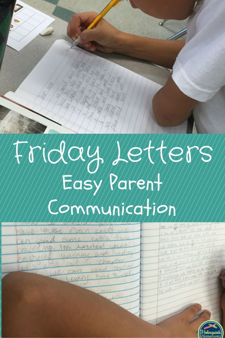 Friday Letters are an easy way to increase communication