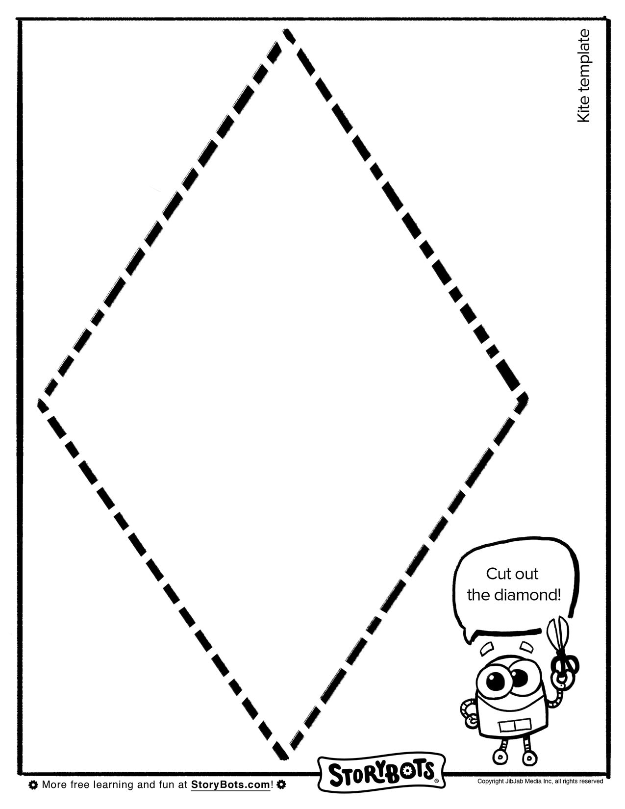 Make Your Own Kite Template