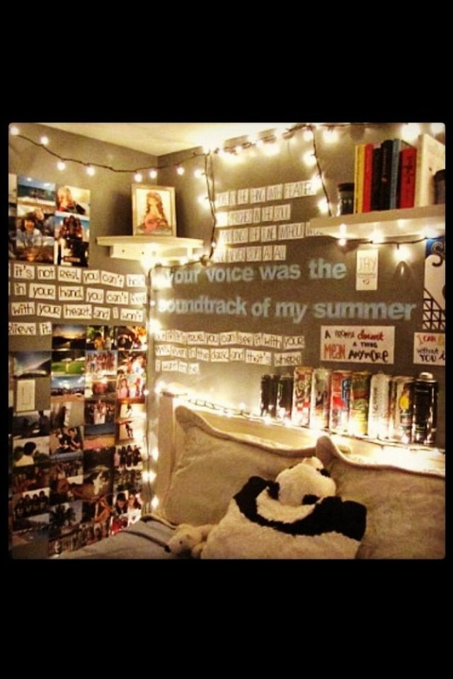 This On A Wall Not Behind My Bed But Another Would Look Good Around The Window Quotes And Pictures With More Christmas Lights