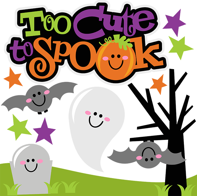 Too Cute To Spook SVG Scrapbook Collection halloween svg