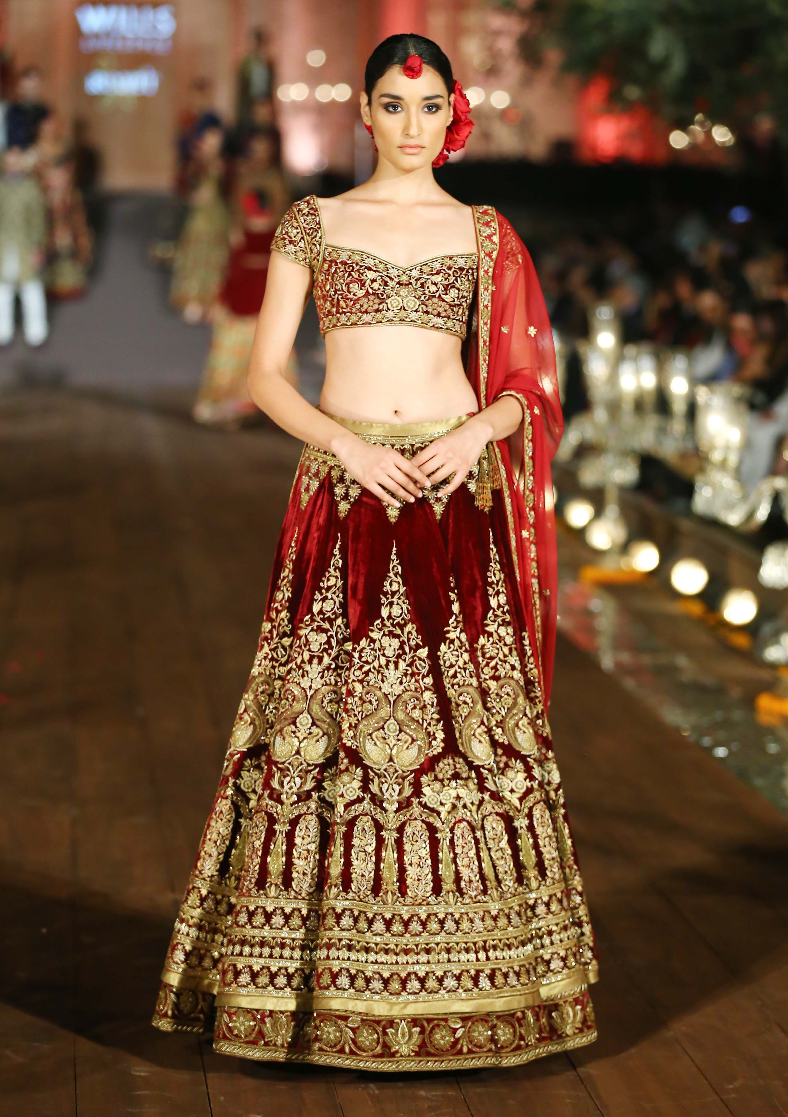 Still swooning over this bridal lehenga from Rohit Bal's