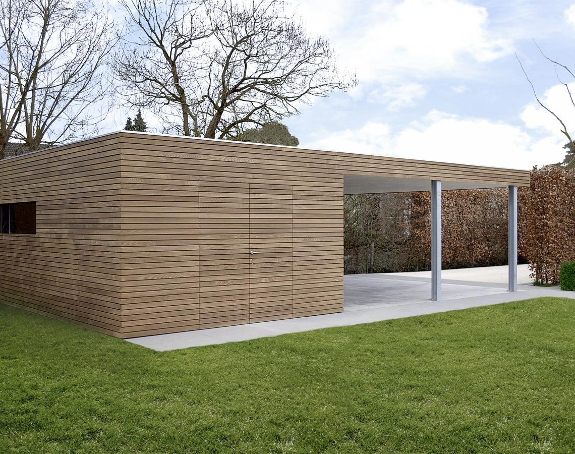 moderne carports in hout Garages Pinterest Tuinhuis