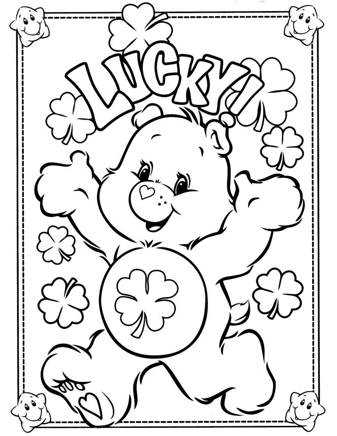 Care Bears Coloring Pages Page 6