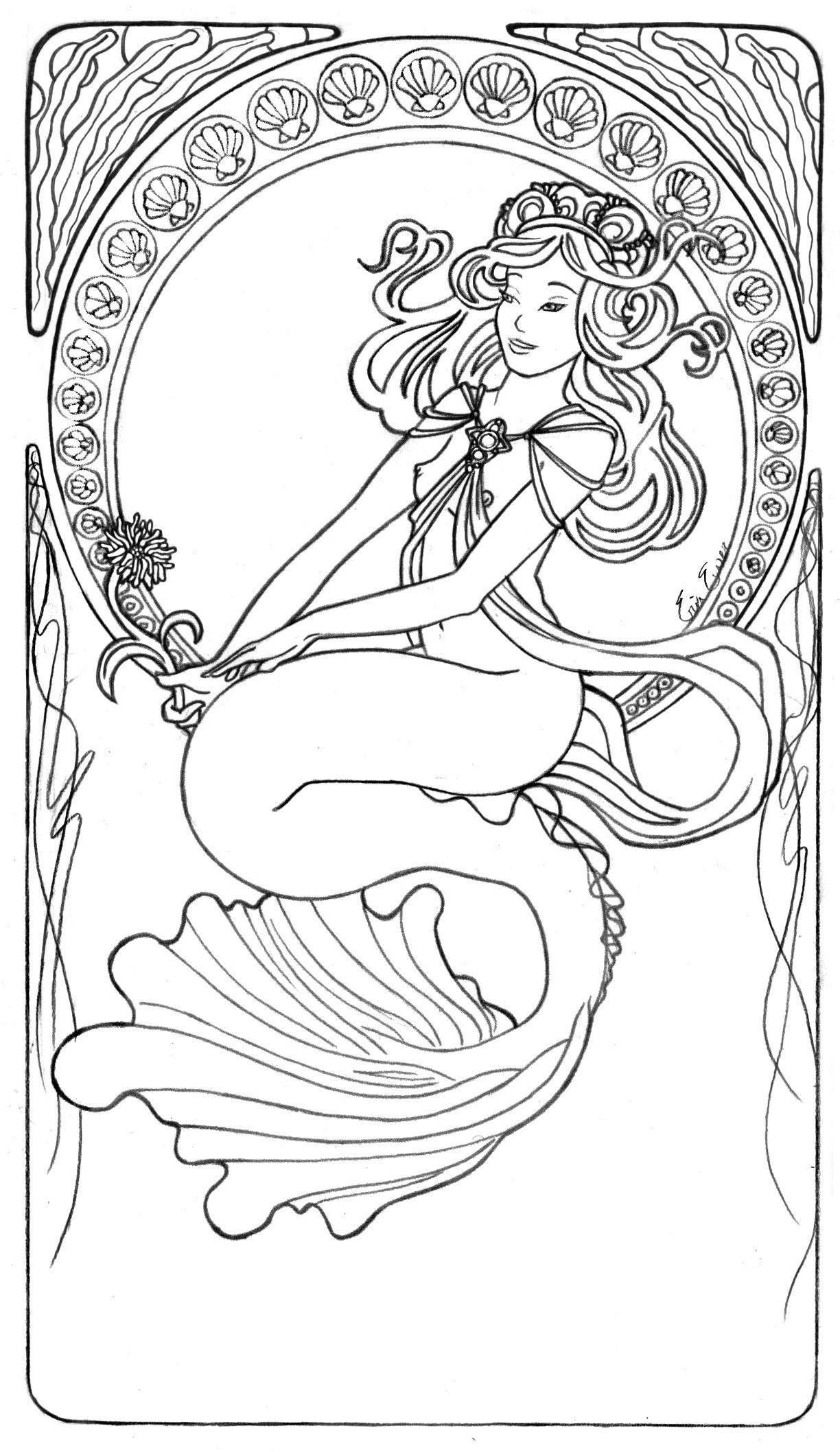 1000 images about coloring pages mermaids and fishies on