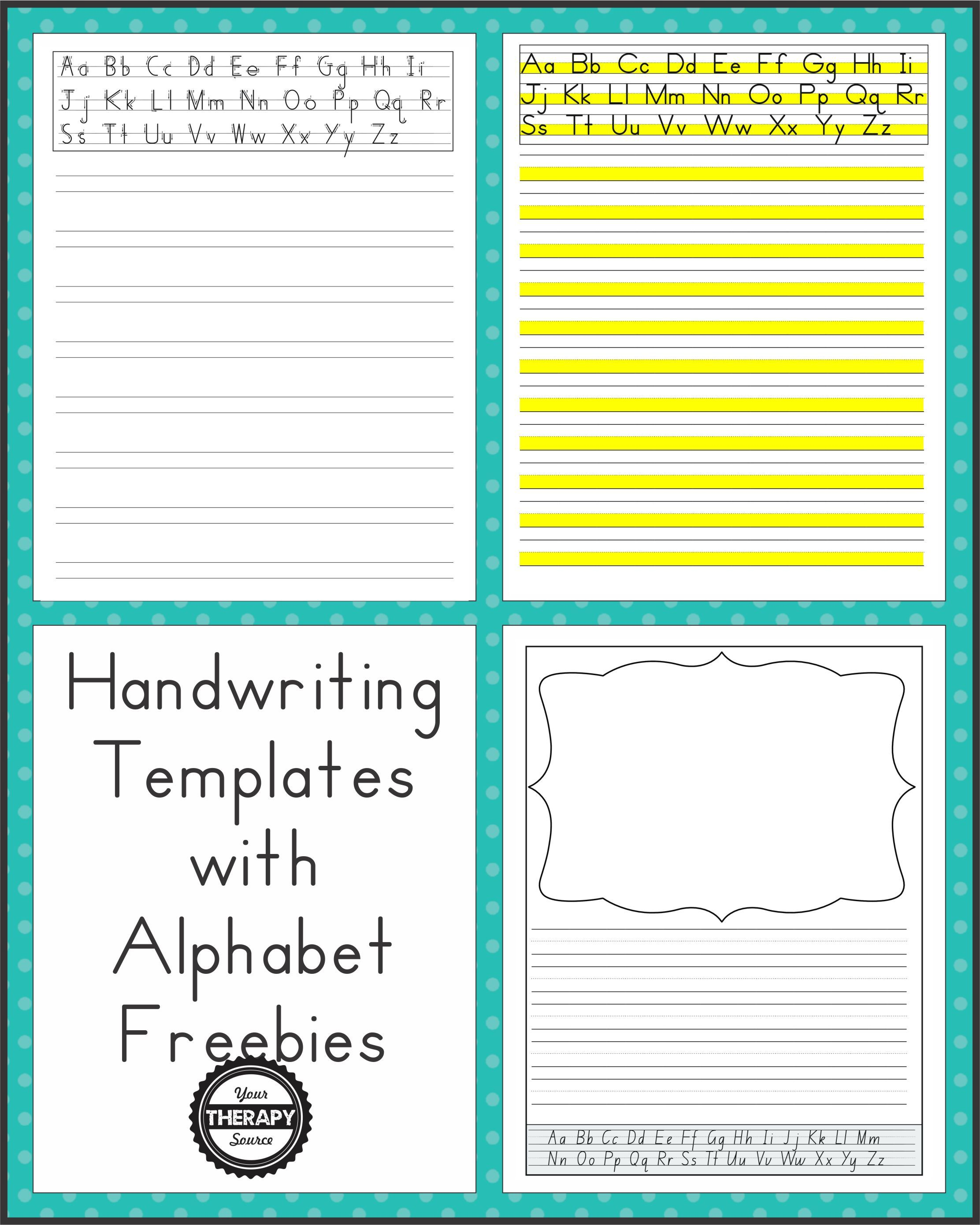 Here Are Some Free Sample Pages From A New Download Packet Handwriting Templates With Alphabet