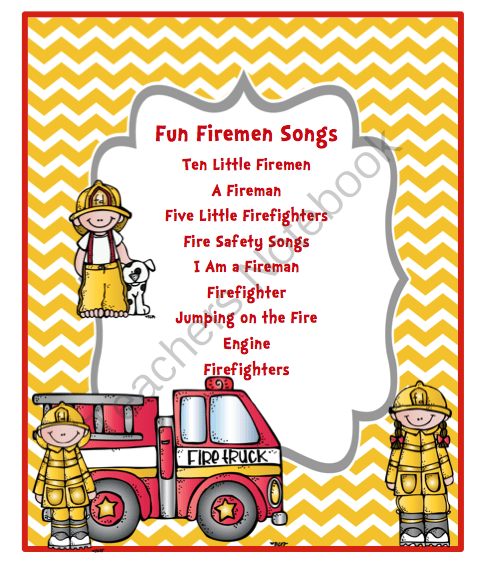 FREE Fun Fireman Song from Preschool Printables on