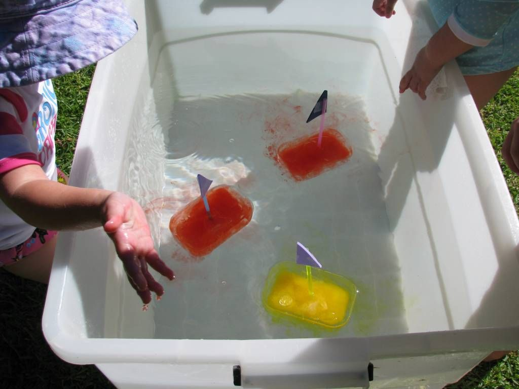 Ice Boats Water Play